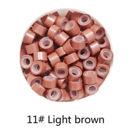 Wholesale-1000pcs 11# Light Brown 5mm*3mm*3mm Silicone Micro Ring/Links/ for i tip hair extension tube от
