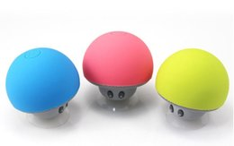 Wholesale Mobile Receiver Box - Mushroom Mini Wireless Bluetooth Speaker Hands Free Sucker Cup Audio Receiver Mp3 Music Player Stereo Subwoofer USB For Android IOS PC