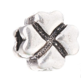Wholesale Cross Fix - Fits Pandora Bracelets 10Pc Cross Flower Fixed Clip Lock Silver Safety Charm Bead Stopper Beads For Wholesale Diy European Sterling Necklace