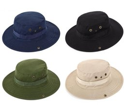 Wholesale Blue Church Hats - New Arrival Casual Ourdoor Sunshade Hat Cap Homburg Travel Fishing West Cowboy Fashion Bucket Hats For Men