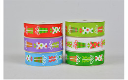 Wholesale Grosgrain Ribbon Printed Roll - 100yards a roll 9mm and 25mm width Christmas gift dots Colorful Thread grosgrain ribbon Decorate party supplies DIY accessories Gift wrap