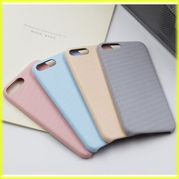 Wholesale Fresh Retail - For iPhone7   6s Simple Summer Fresh Mobile Phone Case Linen Pattern Protective Cover Soft Case with Retail Bag via Free Shippping