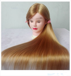 """Wholesale Training Heads For Hairdressing - 26"""" Training Head for Hairdressers Mannequin Head Hair Synthetic Hairdressing Doll Heads Cosmetology Mannequin Head Maniki"""