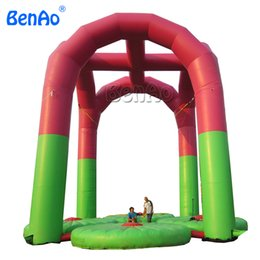 Wholesale Bungee Games - S014 Free shipping inflatable Bungee trampoline ,bungee jumping trampoline for sports games