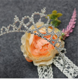 Wholesale Headband Beauty - Children Tiaras Princess Little Girls Show Birthday Headband Beauty Hair Ornaments Head Pieces 2017 Cheap