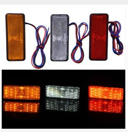 Wholesale Wholesale Trailer Lights - 12V Car-Styling Universal LED Reflector Rear Tail Brake Stop Marker Light For Jeep SUV Truck Trailer Motorcycle Electric Cars