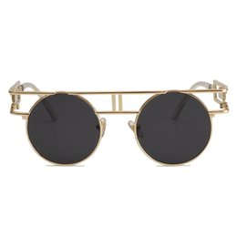 2019 occhiali da sole rotondi steampunk Occhiali da sole Steampunk per occhiali da sole con montatura in metallo di qualità femminile GIRL ROCK Occhiali da sole vintage occhiali da sole ss211 sconti occhiali da sole rotondi steampunk