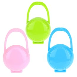 Wholesale Safety Case Box - Wholesale-3pcs Baby Kids Safety Soother Container Nibbler Holder Pacifier Dummy Clip Children Box Tool Travel Storage Case