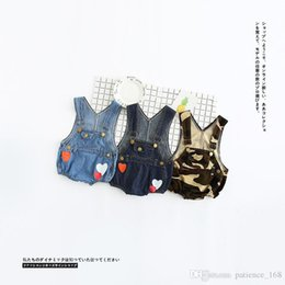 Wholesale Denim Baby Rompers - INS new arrivals 3 style baby kids cute Cowboy print romper girl boy romper kid rompers 0-4T free shipping