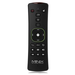 Wholesale Neo A2 Remote - Wholesale- Original Minix NEO A2 Lite 2.4GHz Wireless Air Mouse Six-axis Gyroscope Gampad Remote Control for Android TV Box Windows Linux