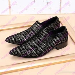 Wholesale Zebra Slippers - 2017 New Gold Metal Toe Genuine Leather Zebra Stripes Slip On Men Dress Shoes Male Slipper Loafers Footwear