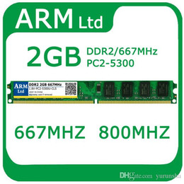 Wholesale Ddr2 Desktop 667mhz 2gb - Intel AMD Wholesale DDR2 2GB 667Mhz RAM PC2-6400 Memory for desktop computer memory Free Fast shipping