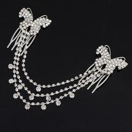 Wholesale Tassel For Hair - Wholesale New Tassel Wedding Hair Accessories Bridal Hair Jewelry Headbands Rhinestone Jewelry for Women wedding H009