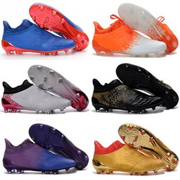 Wholesale Cheap Winter Boots Online - 2017 New Color X 16+ Purechaos FG AG Online Cheap Soccer Shoes Cleats New Bestselling Football Shoes Mens Soccer Boots Free Shipping
