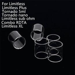 rdta glass Rebajas Reemplazo del vaporizador sin límite Claro Tubo de vidrio Pyrex para IJOY Limitless Plus XL Sub Ohm Tornado 5ml Nano Combo RDTA E cig Tanque Atomizadores