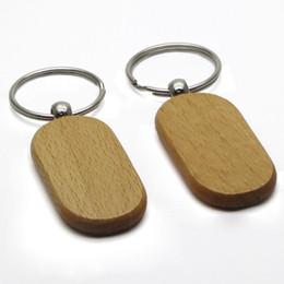 Llavero en blanco Rectángulo de madera de haya llavero Llavero de gran tamaño personalizado de encargo regalo favores # KW01DC ENVÍO DE LA GOTA desde fabricantes