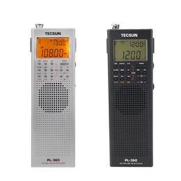 Wholesale tecsun sw radio - Wholesale-TECSUN PL-360 DSP Radio FM MW SW LW Multiband Radio Receiver Portable Mini Radio With External AM Antenna & Outdoor Antenna