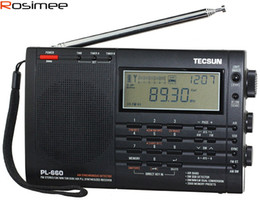 Wholesale Vhf Receiver - Wholesale-Brand New TECSUN PL-660 Radio PLL SSB VHF AIR Band Radio Receiver FM MW SW LW Radio Multiband Dual Conversion