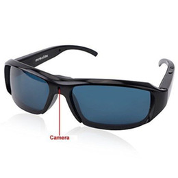 Wholesale Hd Camera Glasses Sports - 1920*1080P HD Glasses Video Recorder Spy Hidden Sports DVR Mini Camera Eyewear DV Security Cam Mini Sunglasses Camera Portable Camcorder