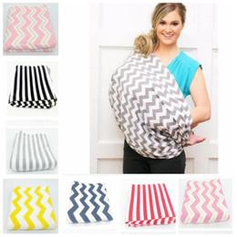 Wholesale Multifunction Blanket - Nursing Cover Nursing Blankets Baby Car Seat Cover Nursing Cover Stretchy Infinity Scarf Wrap Stripe Scarf Multifunction Baby Wrap KKA2374