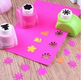 Wholesale Paper Shaper Scrapbook - Mini Craft Punch Kid Child Mini Printing Paper Hand butterfly Heart Shaper Scrapbook Tags Cards Craft DIY Punch Cutter Tool Send Random