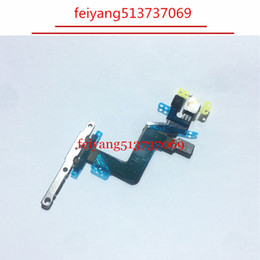 Wholesale Iphone Power Flex - 10pcs 100% working Power Button On Off Button Flex Cable With Metal Plate For iPhone 6S Plus 5.5 inch