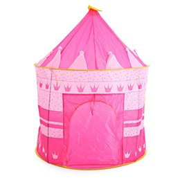 Wholesale Children Garden Play - Portable Children Kids Play Tents Outdoor Garden Folding Toy Tent Play House Boys Girls Castle Indoor House Kid Tents Xmas Gifts
