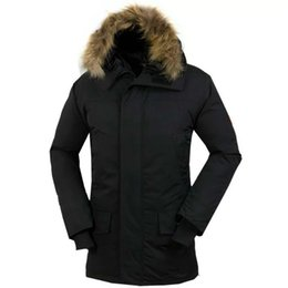 Wholesale Canada Parka Down Men - 2017 canada New Arrival sale men's Down parka Chateau Black Navy Gray Jacket Winter long Coat Parka Fur Sale With Free Shipping Outlet c-17