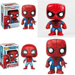 Wholesale Wholesale Batman Action Figures - 2017 new Spiderman Action Figures cartoon The Amazing Spider-Man 2 toys 10cm 4 inches Dolls 3 styles C2315