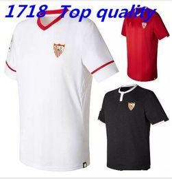 Wholesale Thailand Jerseys - 2017 2018 Sevilla Soccer Jerseys camisetas de futbol 17 18 Sevilla home and away Jerseys Thailand Quality