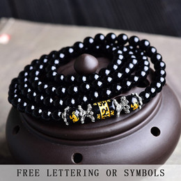 Wholesale Male Female Beaded Bracelets - Zodiac crystal obsidian bracelet female men bracelet Korean simple personality tide male beads beads hand string jewelry
