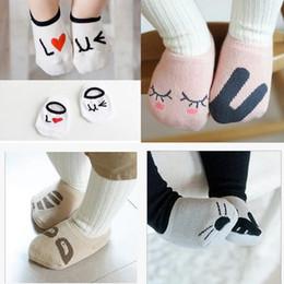 Wholesale korean brands for children - Asymmetry boat socks for baby Korean new pattern cotton cartoon children socks lovely baby non-slip socks for 0-24 months baby