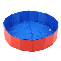 Wholesale Swimming Dogs - Lalawow SO COOL Foldable Pet Swimming Pool Bathing Tub Bathtub Dog Cats Washer 32inch.D x 8inch.H