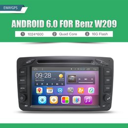 Wholesale Automotive Gps Wifi - Android 6.0 Car DVD Player Radio WIFI BT For Mercedes Benz C-Class W203 CLK W209 Viano Vito W638s GPS Navigation EW825P6QH