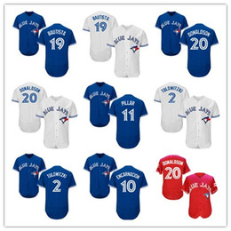 Wholesale Shirts Mens Stitching - 2017 Mens Toronto Blue Jays Jerseys 2 Tulowitzki 20 Josh Donaldson 19 Bautista 11 Pillar 10 Encarnacion Baseball Shirts Stitched Blue White