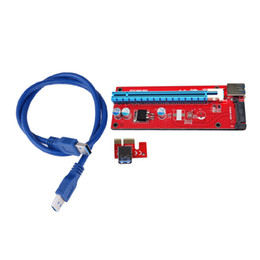 Wholesale pci internal usb - USB 3.0 PCI-E Express 1x to16x Extender Riser Card Adapter with 60cm USB 3.0 extender cablefor bitcoin mining device