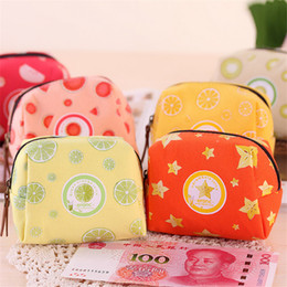 Wholesale Mini Bags For Changes - Wholesale- Lovely Mini Coin Purse Women Girls Fruit Shape Money Bag Key Wallets Children Zip Small Change Purse Wallet For Boys Girls Gift