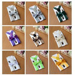Wholesale Elastic Straps Braces Suspenders - Children Straps Suspenders kids Boys Girls Solid Color Adjustable Elastic Suspenders Braces kids Suspenders Fashion Belts GC516