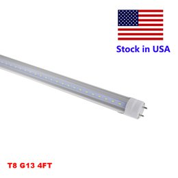 Wholesale nature shopping - 4ft T8 Tube LED Shop Light 4 Foot LED Lights 18W 22W 28W SMD 2835 Bulbs Lamp Clear Milky Cover AC85-265V