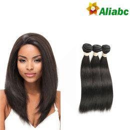 Wholesale Brazilian Straight Hair Weave Sale - Human Hair Limited Rushed 2017 Sale Brazilian Virgin Hair Straight Cheap 3 Bundles Weave Meches Bresilienne Lots Beauty Aliabc