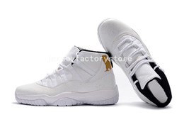 Wholesale Embroidered Training - (With Box) Air Retro 11 XI White Black CAT Men Basketball Shoes JUMPMAN High Top Men Sneakers Basketball Shoes Athletic Sports Training Shoe