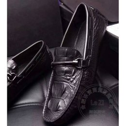 Wholesale Coffee Color Shoe Man - Superstar Embossed Leather Coffee Loafer Set Foot Shoes Solid Color Driving Shoes Men Men Shoes Leather Bespoke Chains