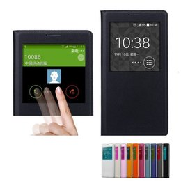 Wholesale Note3 Smart Sleep - Smart Touch View Case Auto Sleep Wake Up Flip Phone Cover For Samsung Galaxy Note 3 Note3 N9000 N9005