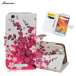 Wholesale Book Cover Printing - Case Printing Leather Cover for ZTE A610 Filp Cover Case for ZTE Blade A610 Luxury Case Book Style Mobile Phone Bag