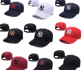 Wholesale Top Hip Hop Hats - 36 colors NY men women MLB baseball cap snapback Hip hop Adjustable top casquette hat sport Dad hats bone High-quality unisex Yankees caps