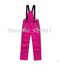 Wholesale Winter Trousers For Boys - Wholesale- 2016 new autumn and winter outdoor warm bunk camping mountaineering ski pants for boys and girls Trousers