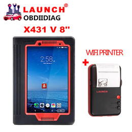 Wholesale Via Kia - Launch X431 V 8inch 2 Years Free Update Via Official Website X-431 V Support WiFi Bluetooth get Mini wifi Printer as Gift