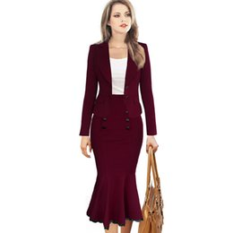 Wholesale Trumpet Decorations - Womens New Fashion Elegant Button Lace Decoration High Waist Casual Party Pencil Office Business Formal Midi Skirt Mermaid Skirt 17409