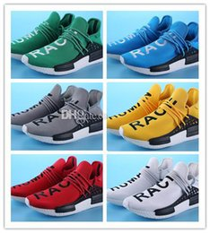 Wholesale Big Cheap Shoes - Big Size Human Race Pharrell Williams X NMD Sports Running Shoes, Cheap top Athletic mens Outdoor Boost Training Sneaker Shoes Eur 36-47