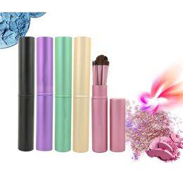 Wholesale Makeup For Blue Green Eyes - Portable makeup brushes set Professional Eyeshadow Brushes Set & Kits 5pcs makeup brushes set For Eye Makeup Tool Kit + Round Tube DHL